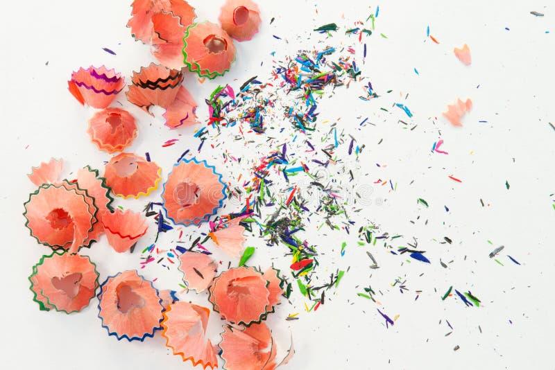 Aparas coloridos do lápis imagem de stock