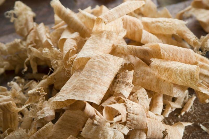 Aparas de madeira fotos de stock
