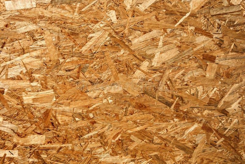 Aparas de madeira OSB fotografia de stock