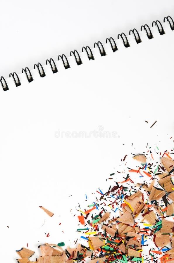 Aparas do lápis da cor na almofada imagens de stock royalty free