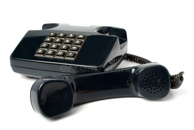 Aparato de teléfono del color negro imagen de archivo libre de regalías