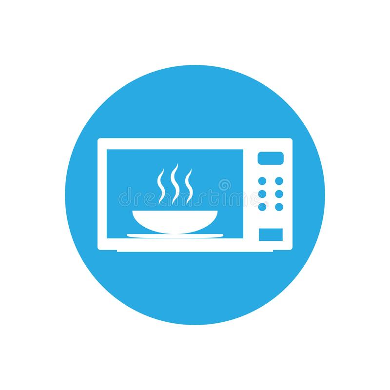 Aparato electrodoméstico, cocina, icono de la microonda Ejemplo del vector, diseño plano ilustración del vector