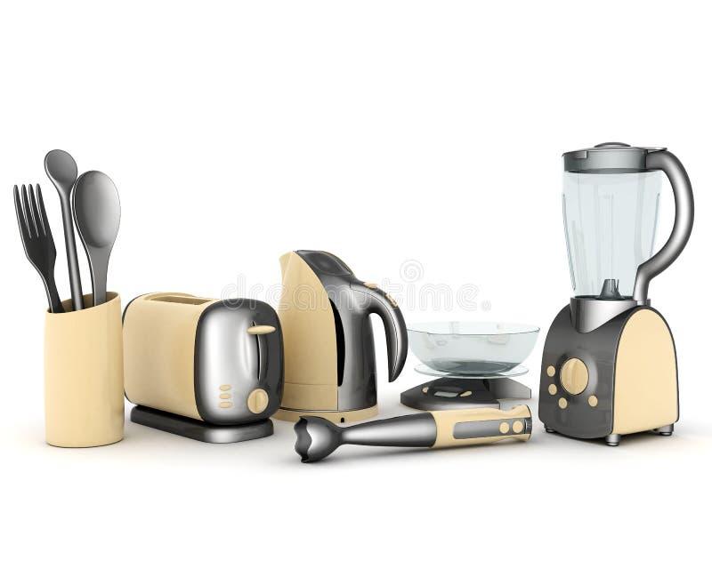Aparatos electrodomésticos stock de ilustración