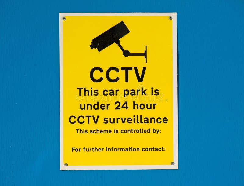 Aparcamiento 24 vigilancias del CCTV de la hora. imagen de archivo