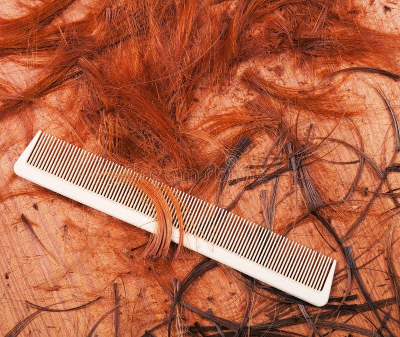 Pente do cabelo fotografia de stock