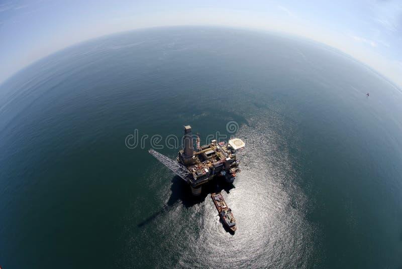 Aparejo de la perforación petrolífera foto de archivo