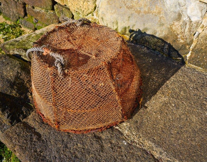 Aparejos de pesca de Combarro de los barcos Pontevedra Galicia fotografía de archivo libre de regalías