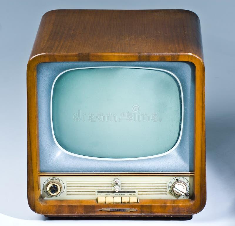 Aparelho de televisão antigo foto de stock royalty free