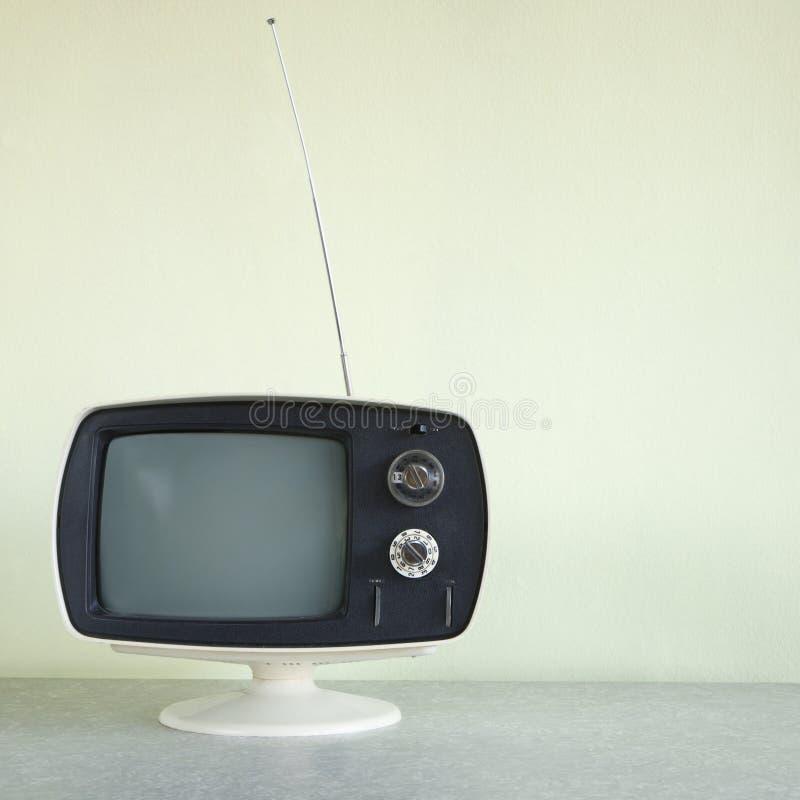 Aparelho de televisão do vintage. fotos de stock royalty free