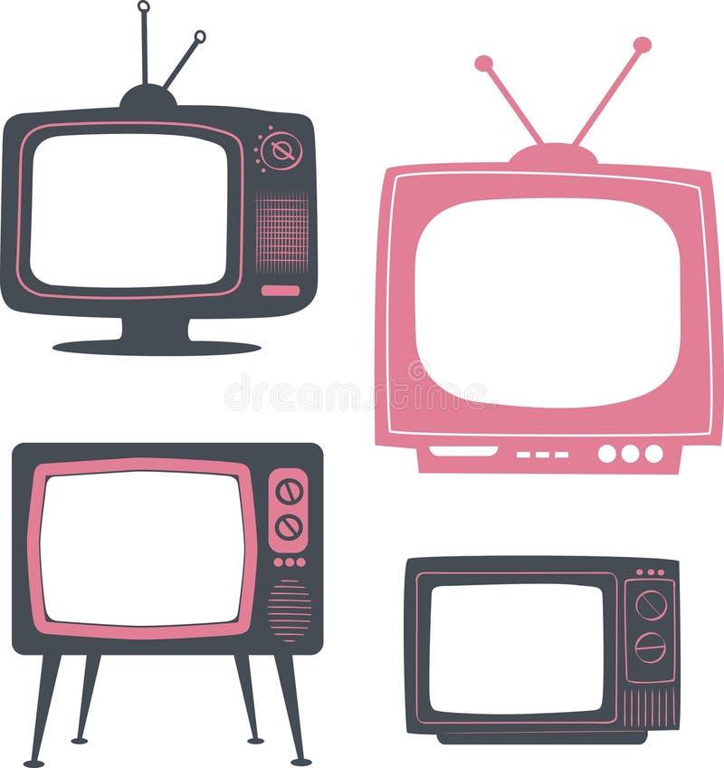 Aparelho de televisão retro ilustração do vetor