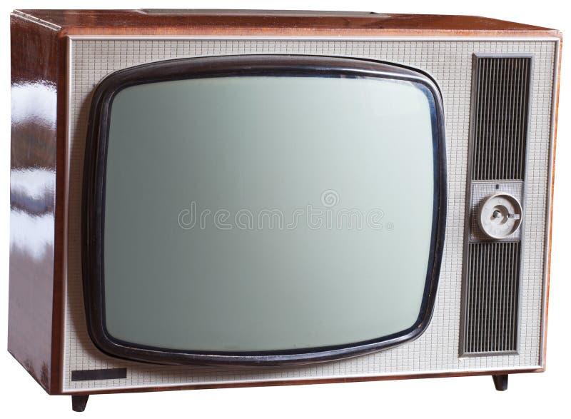 Aparelho de televisão velho do russo foto de stock royalty free