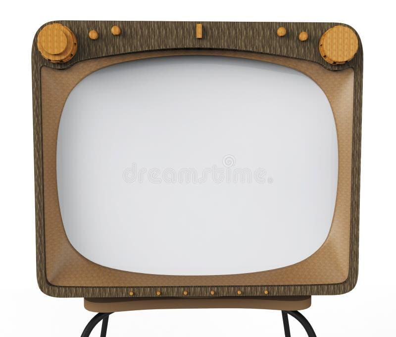 Aparelho de televisão velho para anunciar ilustração stock