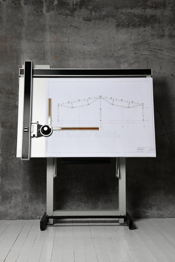 Aparelhos e instrumentos de desenho fotografia de stock