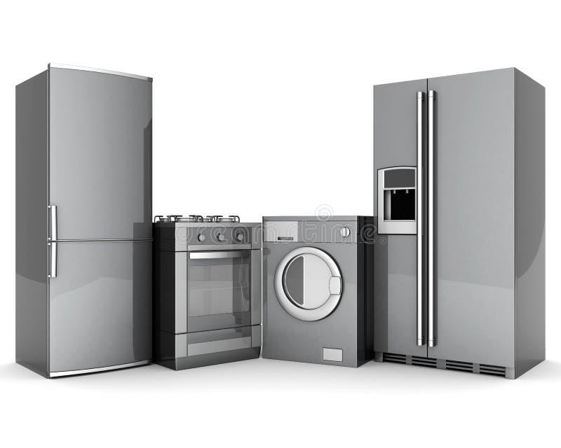 Aparelhos electrodomésticos ilustração do vetor