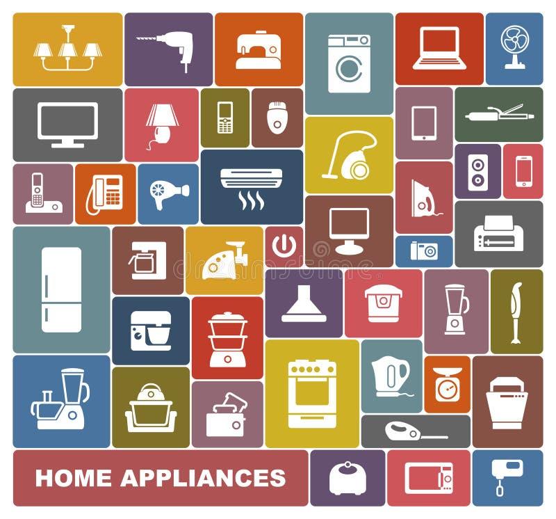 Aparelhos electrodomésticos ilustração stock