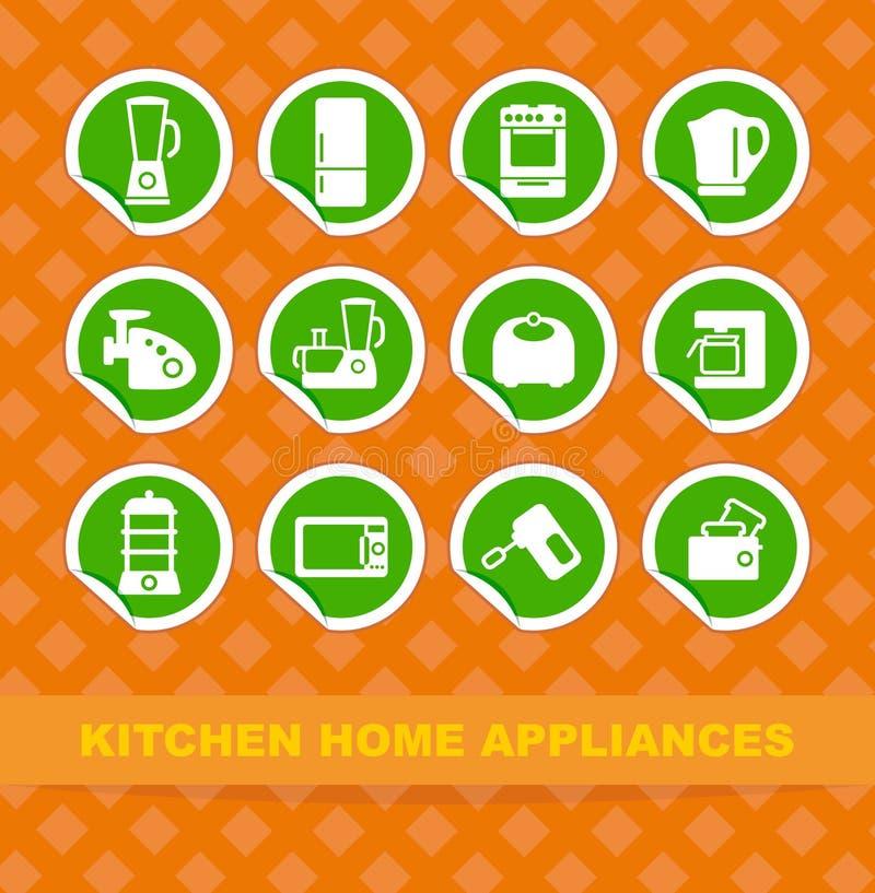 Aparelhos electrodomésticos da cozinha ilustração do vetor
