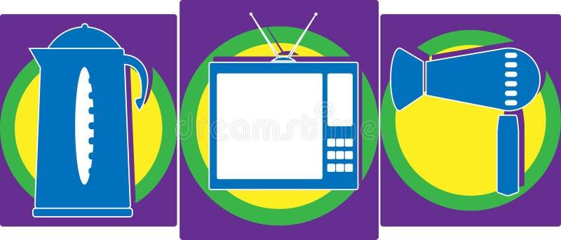 Aparelhos eletrodomésticos da ilustração foto de stock