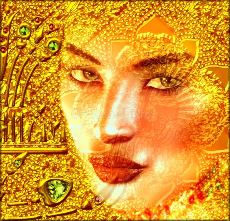 Aparición en oro ilustración del vector
