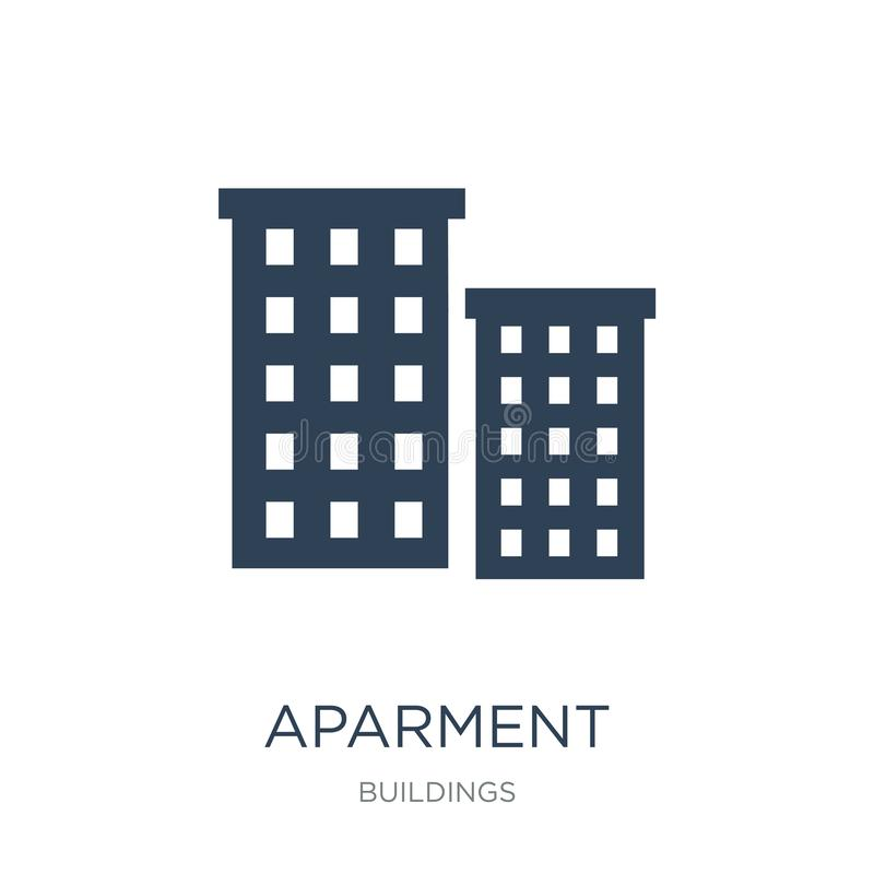 aparment icon in trendy design style. aparment icon isolated on white background. aparment vector icon simple and modern flat vector illustration