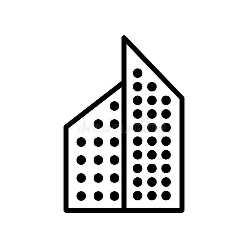 Aparment symbolsvektor som isoleras på vit bakgrund, det Aparment tecknet, linjen eller det linjära tecknet, beståndsdeldesign i  stock illustrationer