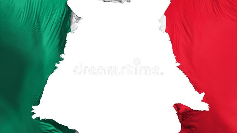 Apart gescheurde de vlag van Mexico royalty-vrije illustratie