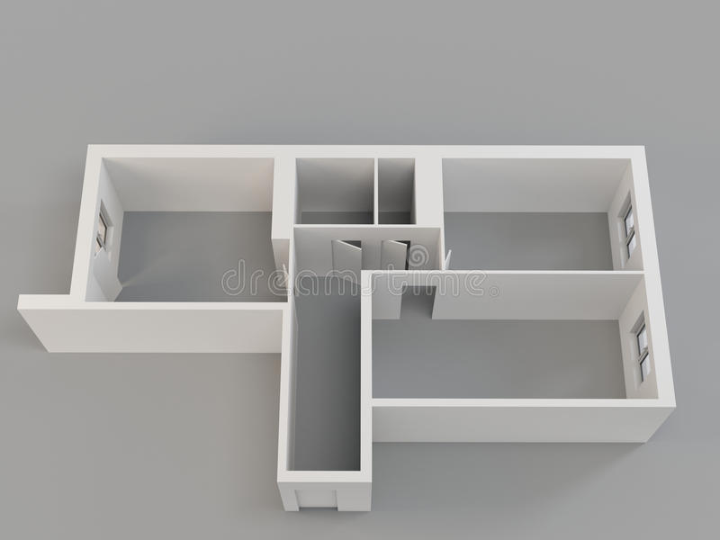 apartamento 3d ilustração do vetor