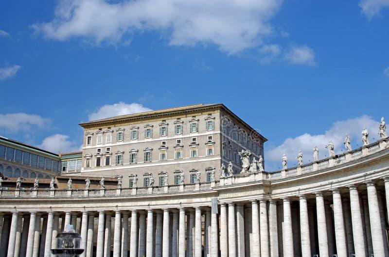 Apartamento del papa fotos de archivo