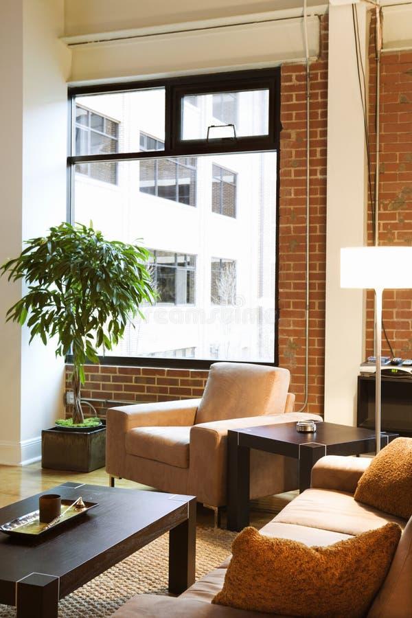 Apartamento do sotão. fotografia de stock