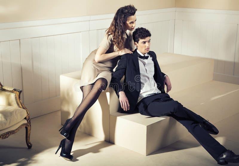 Apartamento exclusivo para dois amantes fotografia de stock