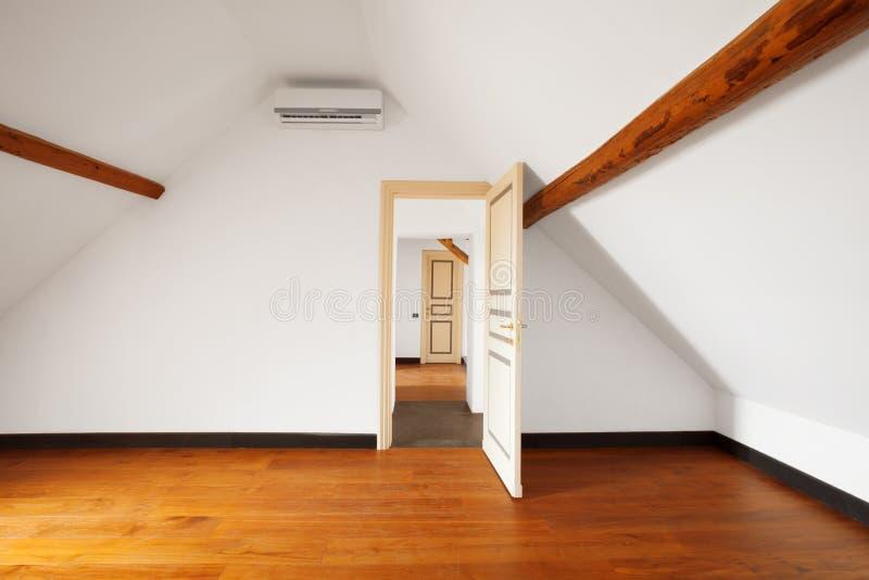 Apartamento interior Pared blanca vacía imagenes de archivo