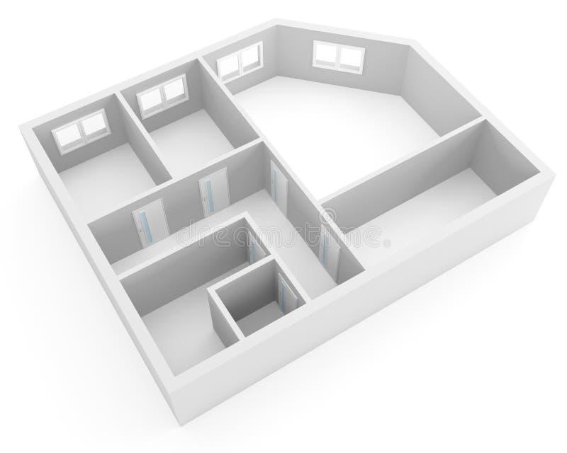 Apartamento moderno ilustração do vetor