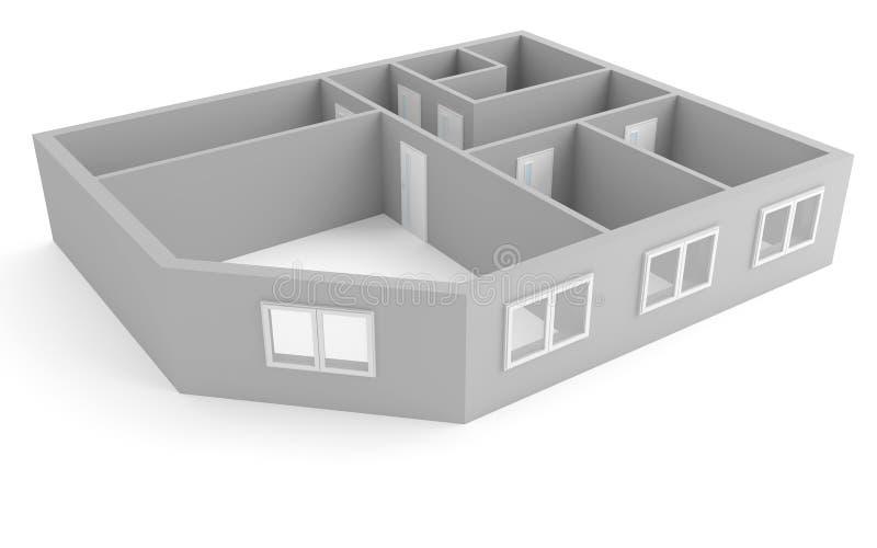 Apartamento moderno ilustração royalty free