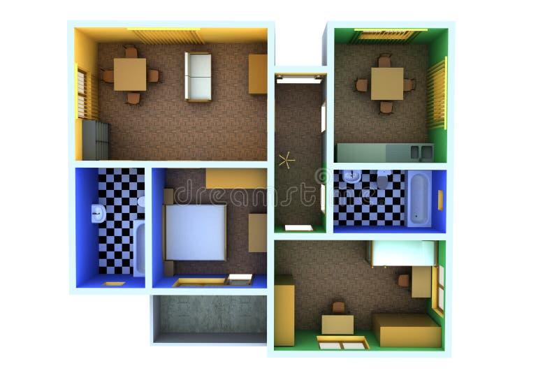 Apartamento pequeno ilustração stock