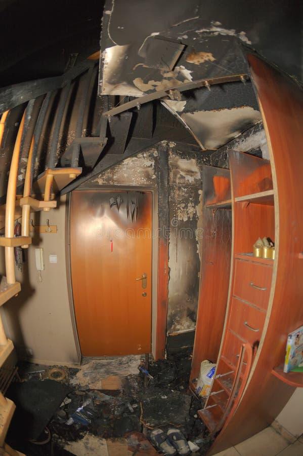 Apartamento quemado imágenes de archivo libres de regalías