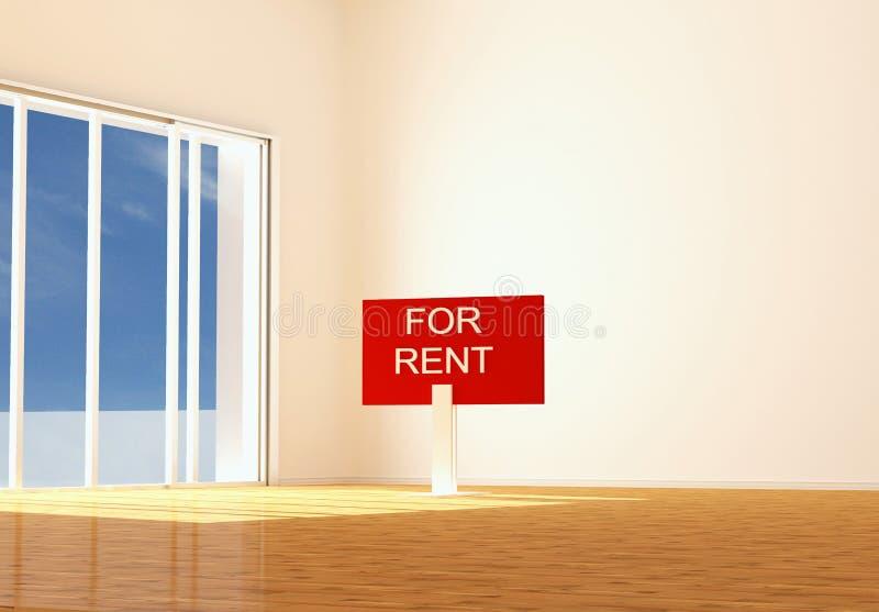 Apartamento vazio novo para o aluguel ilustração do vetor