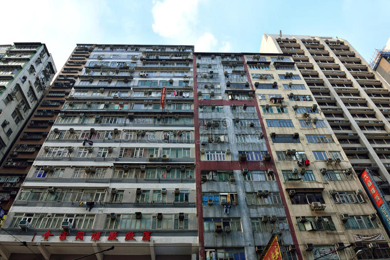 Apartamento viejo, Hong Kong fotos de archivo