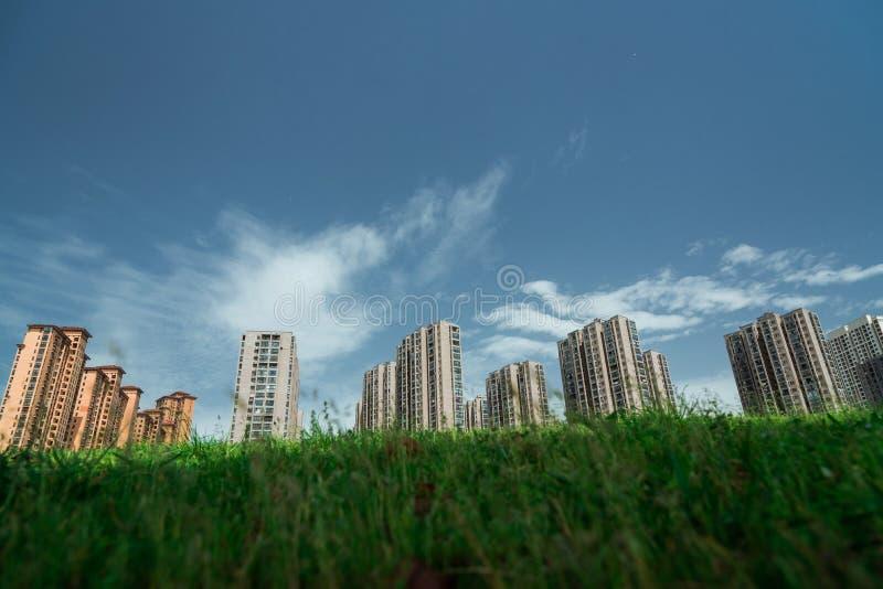 Apartamentos comerciais chineses imagem de stock