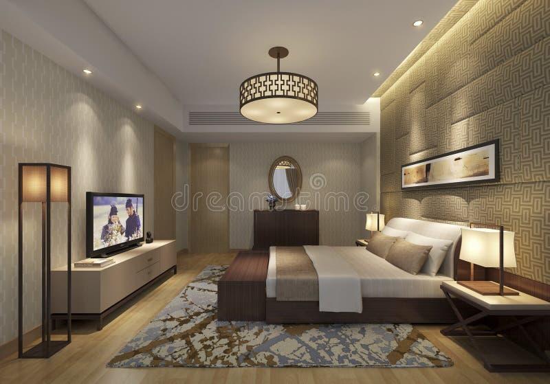 Apartamentos de alto grado de Shangai en el dormitorio principal imagenes de archivo