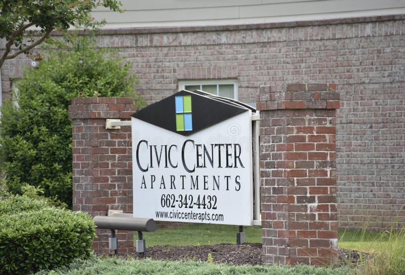 Apartamentos de Civic Center, Southaven, Mississippi fotografía de archivo