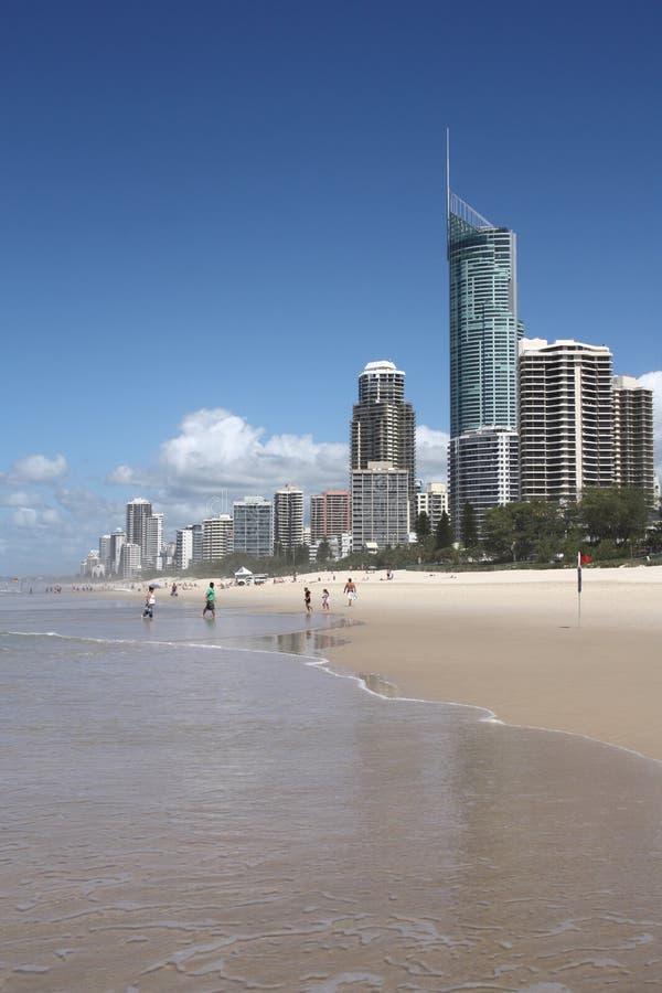 Apartamentos de la playa fotografía de archivo libre de regalías