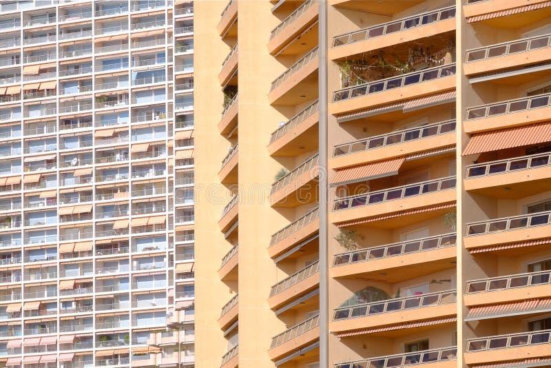 Apartamentos de Mónaco foto de archivo libre de regalías