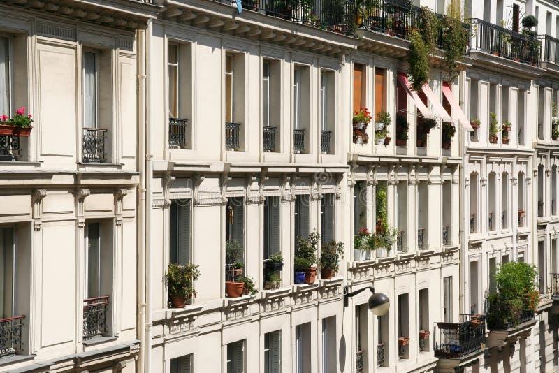 Apartamentos de Paris fotografia de stock royalty free