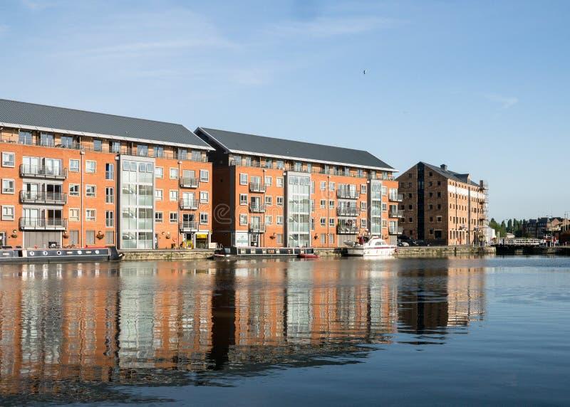 Apartamentos del área de embarque de Gloucester fotos de archivo libres de regalías