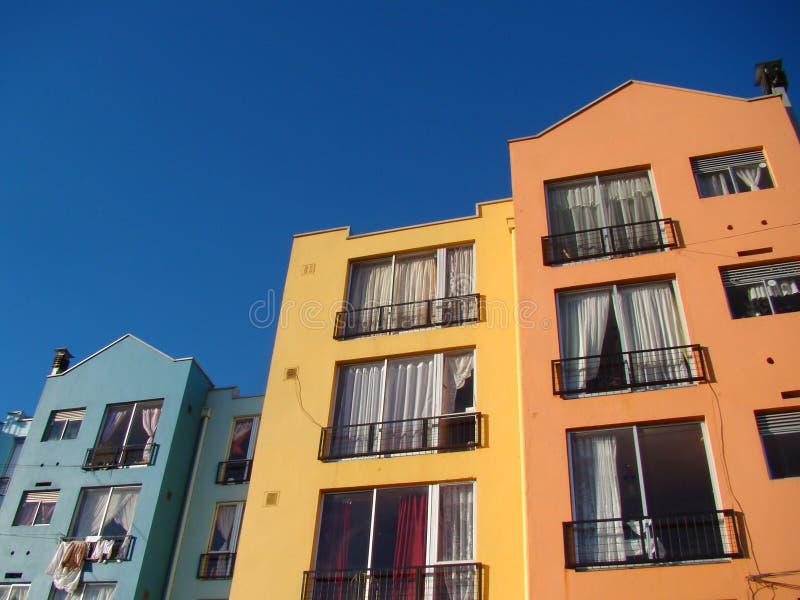 Apartamentos del color imagen de archivo libre de regalías