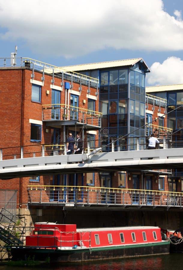 Apartamentos do canal, Leeds imagens de stock royalty free
