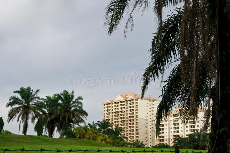 Apartamentos em Malaysia fotografia de stock