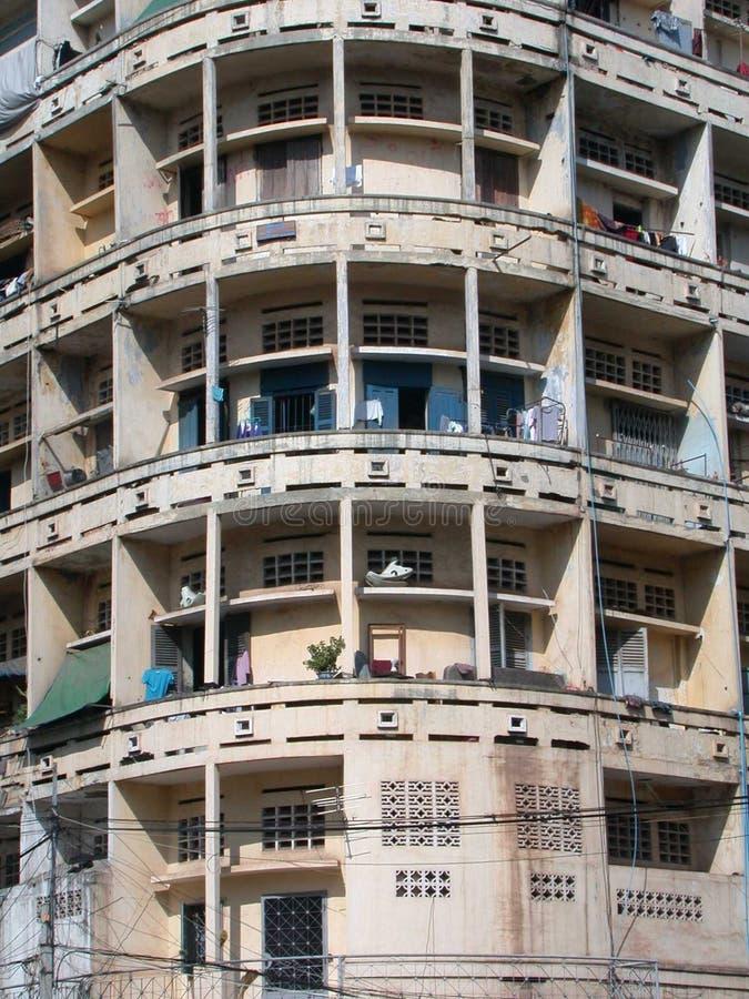 Apartamentos em Phnom Penh 1 fotografia de stock
