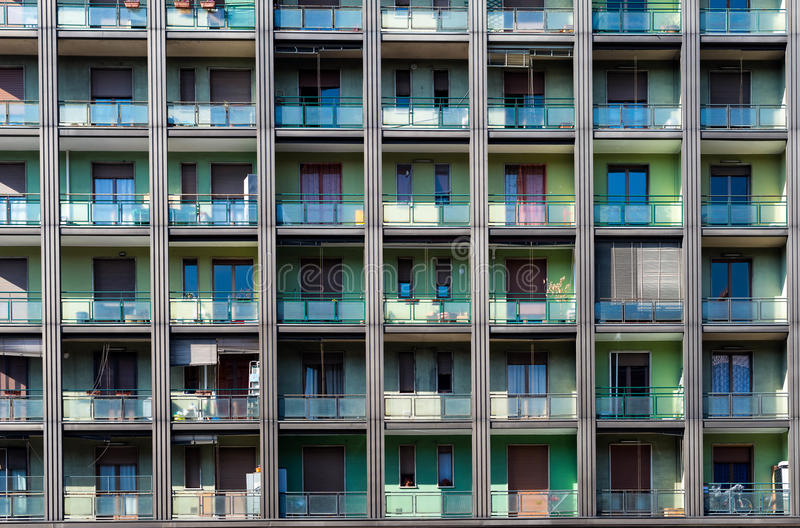 Apartamentos Milano imagen de archivo