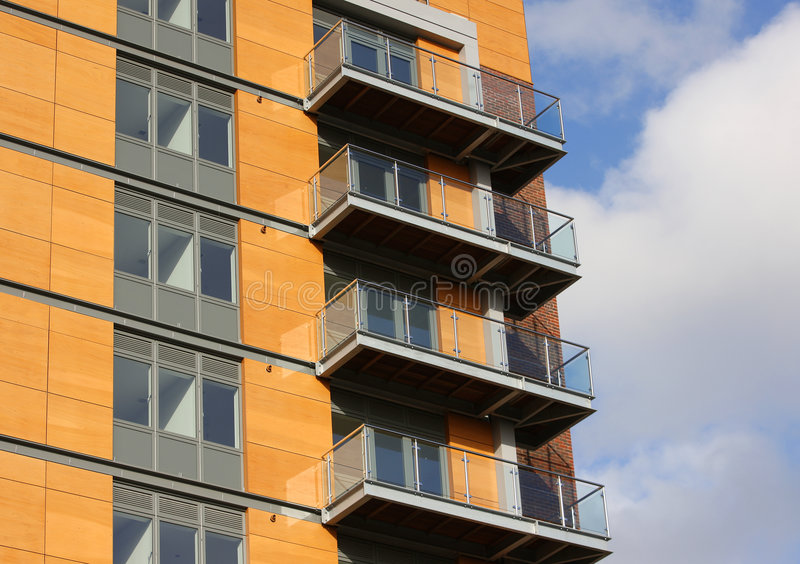Apartamentos modernos imagem de stock