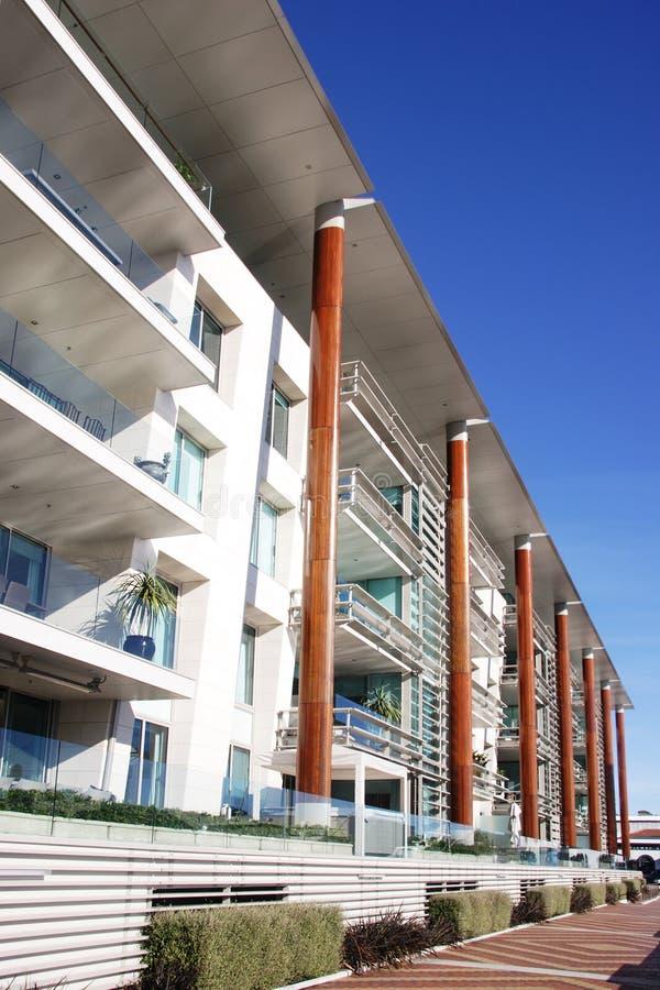 Apartamentos modernos en Auckland fotos de archivo
